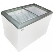 "NEW 44"" Sliding Flat Glass Top Lid Ice Cream Freezer NSF Excellence HL-11HC #9716"