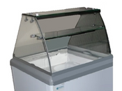 NEW Curved Glass Canopy for HB/HL-6 Dipping Cabinet Excellence C-4 #9720