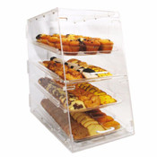 4-Tray, Front & Rear Doors Acrylic Display Case Winco ADC-4 NEW #9919
