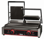 "NEW 23"" Electric Countertop Double Panini Grooved Sandwich Grill Winco EPG-2 #9977"