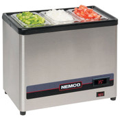 NEW Countertop Cold Condiment Chiller with (3) 1/9 Pans and Lids Nemco 9020-3 #1377