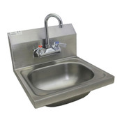 "NEW 17"" x 15"" Wall Mount Hand Sink & Faucet NSF #1488"