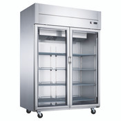 "NEW 2 Glass Door 55"" Refrigerator Display Cooler Merchandiser NSF Dukers D55AR-GS2 #2016"