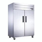 NEW 2 Door Freezer Reach In NSF Solid Stainless Steel Dukers D55AF #2022