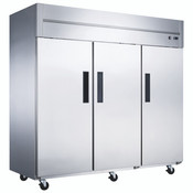 NEW 3 Door Freezer Reach In NSF Solid Stainless Steel Dukers D83AF #2023