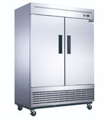 NEW 2 Door Freezer Reach In Solid Stainless Steel Dukers D55F #2029