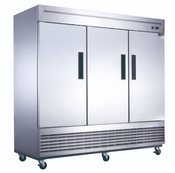 NEW 3 Door Freezer Reach In Upright Solid Stainless Dukers D83F #2030
