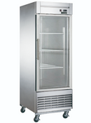 Bottom Mount 1 Glass Door Refrigerator Dukers D28R-GS1 NEW #2033