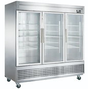 "NEW 3 Glass Door 83"" Refrigerator Display Cooler Merchandiser NSF Dukers D83R-GS3 #2035"