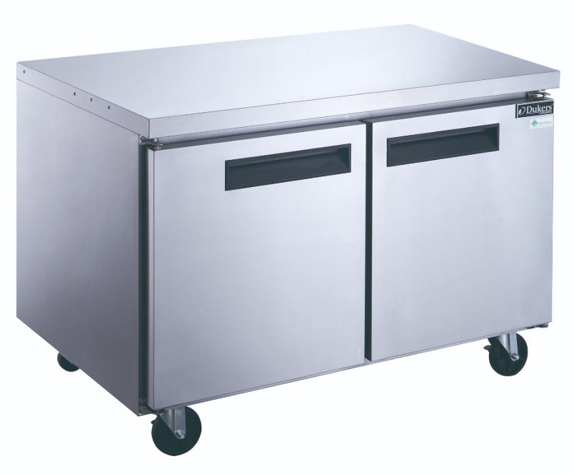 New 2 Door 48 Under Counter Refrigerator Worktop Stainless Steel Cooler Nsf Dukers Duc48r 2037