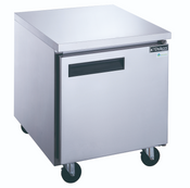 "NEW 1 Door 29"" Under Counter Freezer Stainless Steel Worktop NSF Dukers DUC29F #2154"