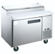 "NEW 1 Door 44"" Refrigerated Pizza Prep Table Stainless Steel Cooler NSF Dukers DPP44 #2194"