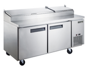 "70"" 2 Door Refrigerated Pizza Prep Table NSF Dukers DPP70 NEW #2195"