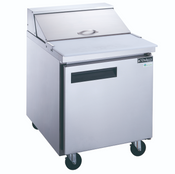 "NEW 1 Door 29"" Refrigerated Sandwich Salad Prep Table Stainless Steel NSF Dukers DSP29-8-S1 #2197"