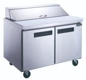 "48"" 2 Door Refrigerated Sandwich Salad Prep Table NSF Dukers DSP48-12-S2 NEW #2198"