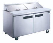 "60"" 2 Door Refrigerated Sandwich Salad Prep Table NSF Dukers DSP60-16-S2 NEW #2199"