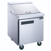 "29"" 1 Door Mega Top Refrigerated Sandwich Salad Prep Table NSF Dukers DSP29-12M-S1 NEW #2201"