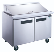 "48"" 2 Door Mega Top Refrigerated Sandwich Salad Prep Table NSF Dukers DSP48-18M-S2 NEW #2202"