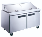 "60"" 2 Door Mega Top Refrigerated Sandwich Salad Prep Table NSF Dukers DSP60-24M-S2 NEW #2203"
