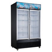 "NEW 2 Glass Swing Door 47"" Refrigerator Merchandiser Display Cooler NSF Dukers DSM-41R #2222"
