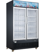 "54"" 2 Glass Swing Door Refrigerator Display Cooler Merchandiser NSF Dukers DSM-48R NEW #2223"