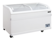 "56"" Curved Glass Top Sliding Lid Chest Freezer NSF Dukers WD-500Y NEW #2239"