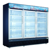 "NEW 3 Glass Swing Door 78"" Refrigerator Merchandiser Display Cooler NSF Dukers DSM-69R #2235"