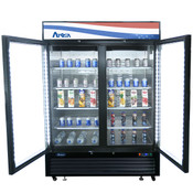 "NEW 2 Glass Door 55"" Refrigerator Merchandiser Reach In Cooler NSF Atosa MCF8723GR #2350"