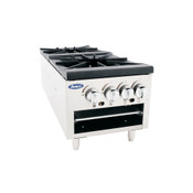 "NEW 18"" Stock Pot Low Profile Four Burners Stove High BTU Range Atosa ATSP-18-2L #2362"