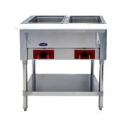 "NEW 2 Well Electric Steam Table Insulated 8"" Deep Dry Heating 110V NSF Atosa CSTEA-2B #2666"