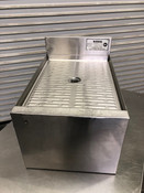 "12"" Drainboard Under Bar Section Glass Wash Extension Stainless Steel NSF Krowne 18GS12 #2752"