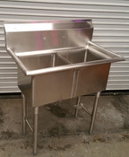 2 Compartment 15X15 Sink Space Saver NEW #2240