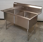 2 Compartment 24x24 Sink All Stainless Steel NSF  #2639