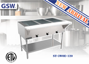 NEW 3 Well Electric Steam Table GSW ST-3WOE-120 NSF/ETL #2968