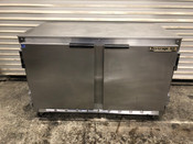 "2 Door Under Counter Refrigerator 48"" NSF Cooler  Beverage Air UCR48A #3077"
