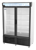 NEW 2 Glass Door Freezer Reach In Display NSF Pro-Kold DURF-32-W #3192
