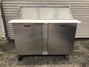 "2 Door Refrigerated Sandwich Prep Table NSF 48"" Cooler Traulsen UPT4818-LR #3179"