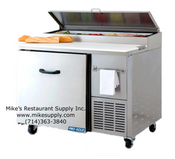 "NEW 44"" Refrigerated Pizza Prep Table NSF 1 Door Cooler Pro-Kold PPT-44-01 #3218"