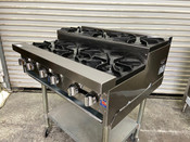 """NEW 36"""" Step Up Hot Plate 6 Open Gas Burner Stratus SHP-36-SU #3264"""