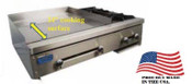 "NEW 24"" Combo 12"" Griddle & 2 Burner Hot Plate Stratus SMG-12-OB2 #3271"