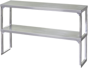 NEW 72x12 Double Tier Over Shelf Stainless Steel NSF #1292