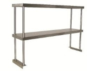 NEW 24x12 Double Tier Over Shelf  Stainless Steel NSF #1117
