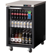 "NEW 1 Glass Door 24"" Refrigerated Back Bar Beer Cooler Stainless Steel Worktop Everest EBB23G #3129"