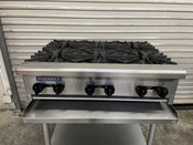 "6 Burner 36"" Commercial Hot Plate Cooktop Stove Radiance TAHP-36-6 #3942"