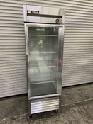 1 Glass Door Refrigerator NSF Cooler Reach In Display True T-23G #3946