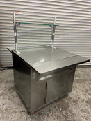 "35"" Buffet Serving Cart Dessert Display Stainless Steel & Sneeze Guard Carter Hoffmann CC32T #4012"