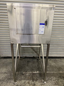 200 LB Ice Bin Dump Station Cart Filler Kloppenberg ICS-1 Stainless Steel #4030