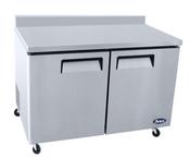 """NEW 2 Door 48"""" Undercounter Refrigerator Backsplash Worktop Cooler Atosa MGF8409GR #4663"""