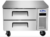 """NEW 36"""" Chef Base Refrigerated Stainless Steel Cooler NSF Atosa MGF8448GR #4668"""