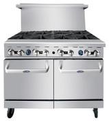 "NEW 8 Open Burner 48"" Range & Std Gas Oven Commercial Atosa AGR-8B #5004"